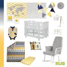 yellow and navy nursery decoration KUB Nursery (@kubnursery) • Instagram photos and videos