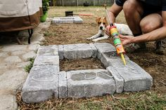 Follow along as Morgan of Charleston Crafted takes you through a few simple steps to create this paver bench and fire pit set up!