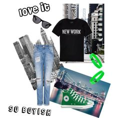 """Boyfriend jeans"" by kate-dep-dep on Polyvore"