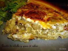 Quiche de cebolla y queso de cabra | Le Cookbook