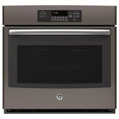 GE 30 in. Single Electric Wall Oven Self-Cleaning in Slate