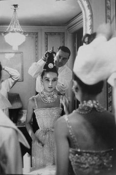 "Audrey Hepburn photographed wearing Dior by Richard Avedon for Harper's Bazaar's September issue, Paris, 1959. """