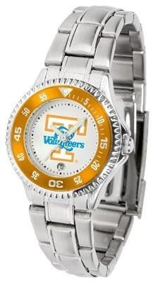 Tennessee Vols Ladies Stainless Steel Watch by SunTime. $76.95. Links Make Watch Adjustable. Officially Licensed Tennessee Vols Ladies Stainless Steel Watch. Rotating Bezel. Women. Stainless Steel. Tennessee Vols Ladies Stainless Steel Watch. This Tennessee metal wrist watch works for dress or casual apparel. Functional rotating bezel is color-coordinated to compliment your favorite Vols team logo. The Competitor Steel utilizes an attractive and secure stainless...