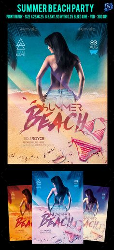 Summer Beach Party Flyer Template PSD. Download here: https://graphicriver.net/item/summer-beach-party-flyer/17265237?ref=ksioks