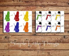 Winter Activity - Snowman Color Matching Printable