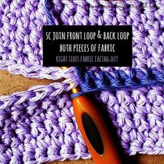 How To Join Two Pieces of Crocheted Fabric with a Single Crochet Seam • Oombawka Design Crochet
