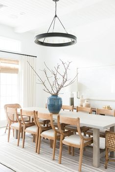 Casual, bright, laid-back California Great Room (living + dining space)