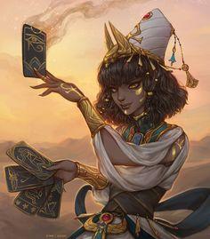 Female Character Design, Character Design Inspiration, Character Concept, Character Art, Dnd Characters, Fantasy Characters, Female Characters, Anime Egyptian, Egyptian Art