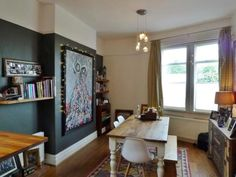 3 bedroom terraced house for sale in Alwinton Terrace, Gosforth, Newcastle Upon Tyne, - Rightmove. Find Property, Property For Sale, Dark Walls, Flats For Sale, Sale On, Corner Desk, Curtains, Bedroom, Inspiration