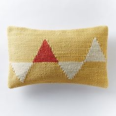 "Chindi Triangles Pillow Cover - Horseradish - 12""x 21"" - $49 (less 20% is $39.20)"
