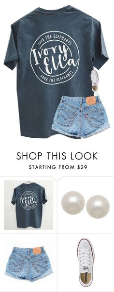 """say it to my face not through your status"" by classynsouthern ❤ liked on Polyvore featuring Honora, Levi's and Converse"