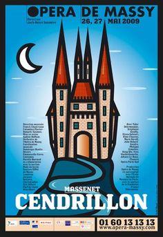 Cendrillion poster by Michel Bouvet for Opéra de Massy