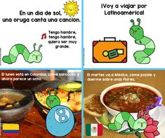 LA ORUGA VA A LATINOAMÉRICA: FUN STORY FOR ELEMENTARY STUDENTS - FunForSpanishTeachers Spanish Interactive Notebook, Interactive Notebooks, Different Flags, Second Grade Science, Butterfly Life Cycle, Fun Songs, Student Travel, Science Curriculum, Very Hungry Caterpillar