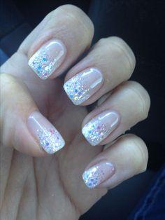 The perfect glitter french fade mani!