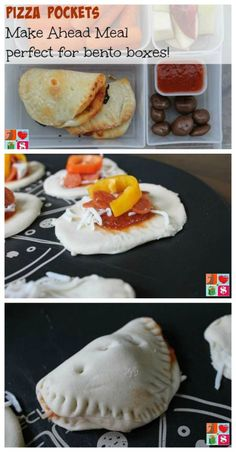 Mini Pizza Pockets Recipe on Having Fun Saving.  Perfect for school lunches or after school snacks!