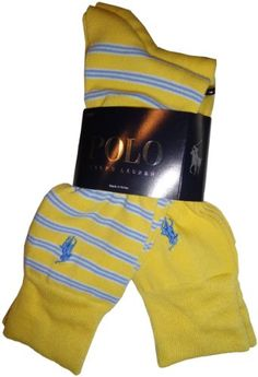 Men's Polo by Ralph Lauren 2 Pack of Socks Yellow « Holiday Adds