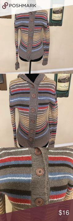 Vintage Fossil hooded sweater Vintage Fossil hooded stripped sweater Fossil Sweaters Crew & Scoop Necks