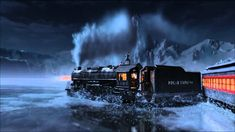 Drift Express (Polar Express x Initial D) Initial D, World Need, Dankest Memes, United States, Scene, Image, Trains, Poetry, Amazing