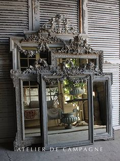 Antique Vintage Decor import of french antiques for home and garden, Mirror, Garden Elements, Chandeliers, Painted Furniture - Vintage Bathroom Decor, Vintage Mirrors, Vintage Decor, Vintage Clocks, Antique Decor, Antique French Furniture, Decoration Shabby, Shabby Chic Decor, Molduras Vintage