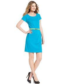 Charter Club Dress, Sleeveless Belted Sheath - Dresses - Women - Macys ...