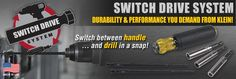 Switch between a handle and drill in a snap with our Switch Drive Handle System