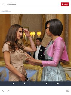 Two Beautiful Women. of Compassion ,a Sense of Fun & Class.Catherine The Duchess of Cambridge & !st Lady Michelle Obama.