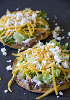 Make Oven-Baked Tostadas for lunch at work with this easy + healthy recipe.