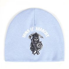 Sons of Anarchy Reaper Printed Baby Beanie - Blue love!!