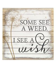 Look what I found on #zulily! 'See A Wish' Wall Sign #zulilyfinds