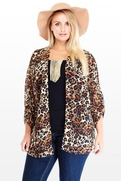Plus Size Leopard Open Cardigan | Fashion To Figure