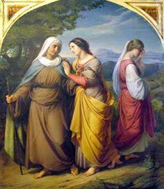 Ruth and Naomi by Julius Hubner, 1831