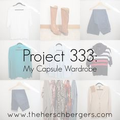 """Project 333: My Capsule Wardrobe The 33 items I chose to wear for 3 months (Oct-Dec 2014). Comfortable, """"dressy casual"""", and neutral with pops of red and green. I'm a stay-at-home mom but with the addition of a pair of black dress pants this would have worked for my casual office job where I only needed to dress up for meetings once a week or so."""