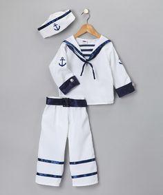 Another great find on #zulily! White Sailor Pants Dress-Up Set - Kids #zulilyfinds