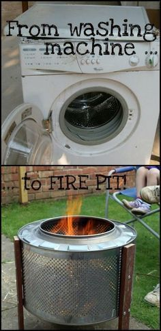 DIY Fireplace Ideas - Outdoor Firepit On A Budget - Do It Yourself Firepit Projects and Fireplaces for Your Yard, Patio, Porch and Home. Outdoor Fire Pit Tutorials for Backyard with Easy Step by Step Tutorials - Cool DIY Projects for Men and Women Diy Projects Cans, Backyard Projects, Outdoor Projects, Backyard Ideas, Patio Ideas, Porch Ideas, Backyard Gazebo, Backyard Landscaping, Wedding Backyard