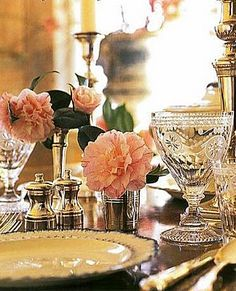 Beautiful table setting with William Yeoward Crystal Crystal Stemware, Waterford Crystal, Beautiful Table Settings, Fine Dining, Dining Sets, Dining Tables, Dining Rooms, Outdoor Tables, Elegant Dining