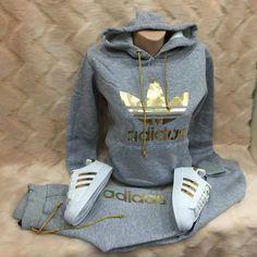 jacket adidas adidas outfit gold nike roshe run grey and gold adidas jacket Legging Outfits, Swag Outfits, Mode Outfits, Sport Outfits, Casual Outfits, Outfit Jeans, School Outfits, Adidas Outfit, Adidas Shoes