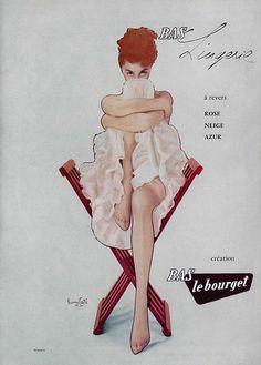 Le bourget stockings, 1 9 5 7, L'officiel magazine, n° 419-420.