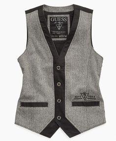 Guess Kids Vest, Little Boys Tweed Vest - Kids - Macy's