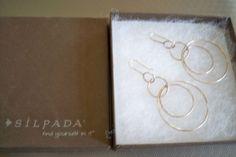 Silver Hoop Earrings Silpada   My favorite Jewelery....