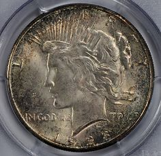 1928-S $1 PCGS MS65  http://www.collectorscorner.com/Products/Item.aspx?id=25973369  #CollectorsCorner #Online #Coin #Marketplace #PeaceDollar #Collector #Buy #Numismatic #Silver #Dollar #RareCoin #Beautiful #Collectible #PCGS #MintState