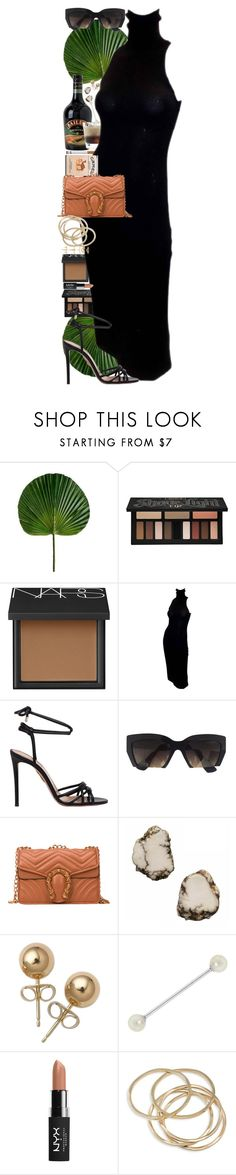 """""""Tropical Rain."""" by quiche ❤ liked on Polyvore featuring Bailey, Kat Von D, NARS Cosmetics, Ralph Lauren, Aquazzura, Miu Miu, Siman Tu, Bling Jewelry, NYX and ABS by Allen Schwartz"""