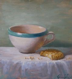 Coffee Cup & Cookie / 7 x 7.5 print of by JessicaMDalrymple, $25.00