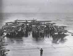 Swordfish on HMS Victorious before strike on Bismarck - Fairey Swordfish.