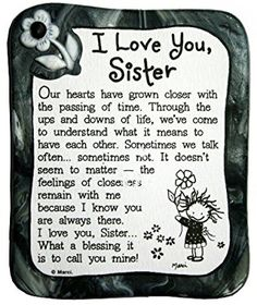 Blue Mountain Arts I Love You Sister by Marci Sculpted Resin Magnet by estela The Words, I Love You Sister, My Love, Pomes, Happy Birthday Sister, Sister Birthday Quotes, Baby Sister, Brother Sister, Sisters Forever