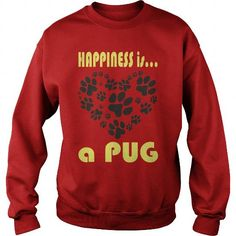 #pug #puglife #puglove #pugsnotdrugs #puggle #pugnation #pugoftheday #pugpuppy #ilovemypug  .  Limited Edition Happiness is a Pug Shirts & Tees