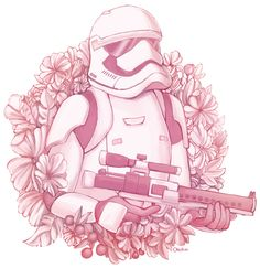 Floral Stormtrooper from Star wars the force awakens