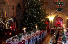 A Warwick Castle Christmas looks Magical Winter Wedding Decorations, Table Decorations, Christmas Time, Xmas, Christmas Parties, Warwick Castle, Royal Residence, Castle In The Sky, Christmas Inspiration