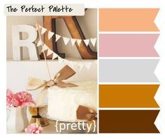 A feminine fall color palette  #color #fall #palette #brown #pink #orange #home #homedecor