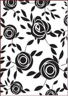 "723451  Couture Creations Embossing Folder Joe's Garden 5""x7"" Black N White Images, Black And White, Embossing Folder, Fabric Painting, Laser Engraving, Zentangle, Stencils, Tiles, Mandala"