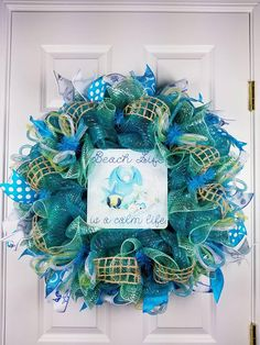 Check out this item in my Etsy shop https://www.etsy.com/listing/582283426/beach-wreath-beach-wreath-for-front-door
